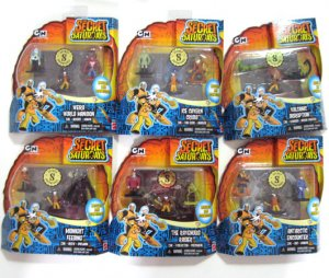 SECRET SATURDAYS Multi Pack Mini Figure Complete Set 6
