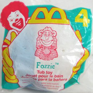 McDonalds Happy Meal Muppet FOZZIE Bear Tub Toy #4