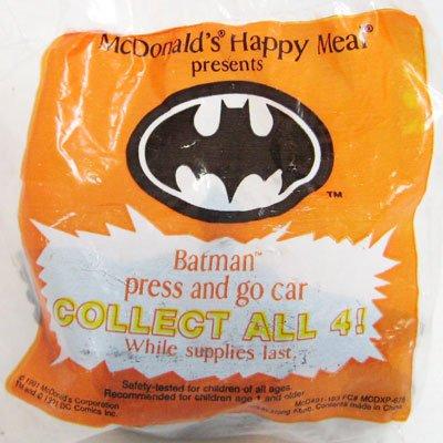 McDonalds BATMAN Press And Go Car Happy Meal Toy '91