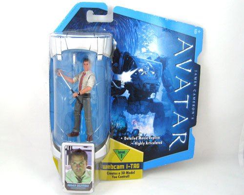AVATAR 3.75 Figure PARKER SELFRIDGE With Golf Club RARE