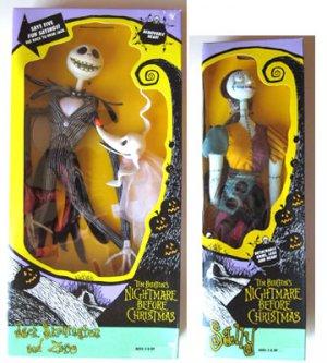 nightmare before christmas vintage hasbro talking jack sally doll set 1993 rare