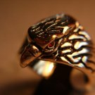 18kt Gold Plated Eagle Head Ring Size 12