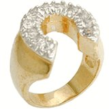 18kt Gold Plated Ring horse shoe Size 14