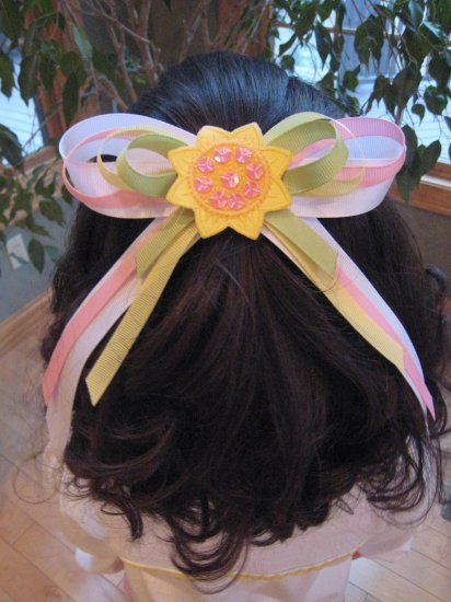 Sunflower Hair Bow Large M2M Gymboree