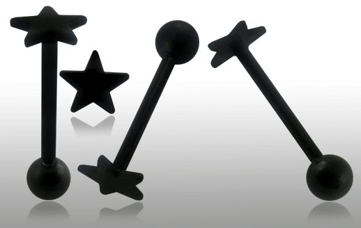 Star Blackline Steel Tongue Barbell