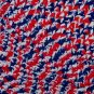 HAND CROCHETED DECORATIVE THROW IN PATRIOTIC RED WHITE BLUE FREE SHIPPING IN US