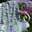 HAND CROCHETED AFGHAN VERIGATED WATERCOLORS