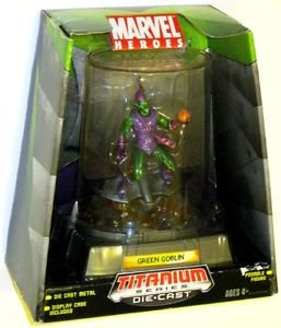 Marvel Heroes Titanium Series Die-Cast Green Goblin Figure -  NEW