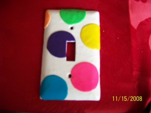 Handmade Poka Dot Light Swich Cover