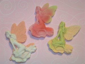 3 Handmade Customized Fairy Goats Milk Soaps 2ozs [FREE SHIPPING]