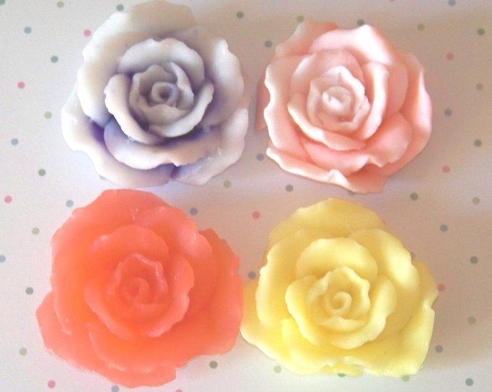 4 Handmade Customized Rose Goats Milk Soaps