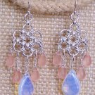 Sterling Silver Japanese Daisy Chandelier Earrings - FREE SHIPPING!