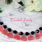 """CEREZA"" Cherry Quartz & Sterling Silver Necklace - FREE SHIPPING!"