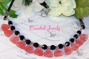 """CEREZA"" Cherry Quartz & Sterling Silver Necklace - FREE SHIPPING!"