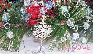 """""""SNOWFLAKE"""" Crystal & Sterling Silver Necklace - FREE SHIPPING!"""