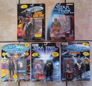 Star Trek Action Figure Klingon Lot of 5 Including Worf, Kang, Kruge and more