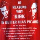 (L) Kirk better than Picard Star Trek Tee Shirt Adult Size Large