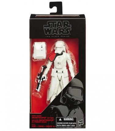 First Order Snowtrooper Officer Toys R Us Exclusive 6 inch Black Series MIB