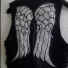 The Walking Dead Daryl Dixon Leather Angel Wing Vest Screen Accurate As Worn By Norman Reedus