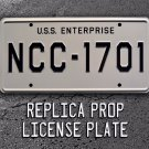 Star Trek / USS Enterprise / NCC-1701 Metal StampedStandard USA Size License Plate