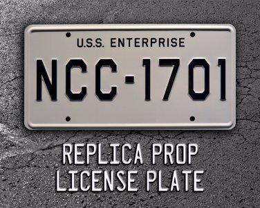 Star Trek / USS Enterprise / NCC-1701 Metal StampedStandard USA Size License Plate