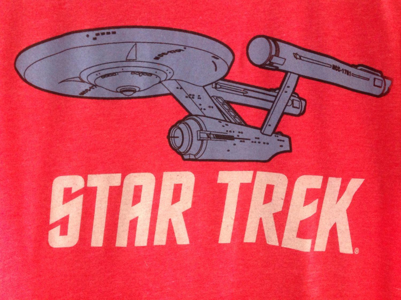 (S) Retro Star Trek Distressed Tee Shirt Adult Size Small