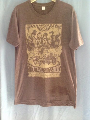 (XS) Spectral Smashers Steampunk Ghostbusters Tee Shirt Adult Size X Small
