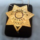 The Walking Dead King County Sheriff Badge Rick Grimes Replica Movie Prop