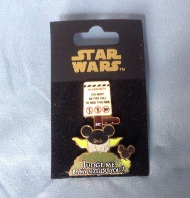 2008 WDW Disney Star Wars Yoda Judge Me By My Size Do You Park Rides Pin FREE SHIPPING