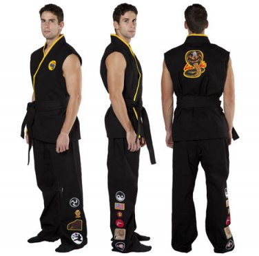 Karate Kid Cobra Kai Movie Quality Costume Adult Size Medium/Large