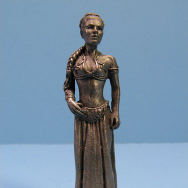 1997 Slave Leia Promotional Star Wars Monopoly Pewter Figure Electronis Boutique Exclusive