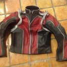 Antman Costume Leather Motorcycle Jacket Accurate to Movie Size Large