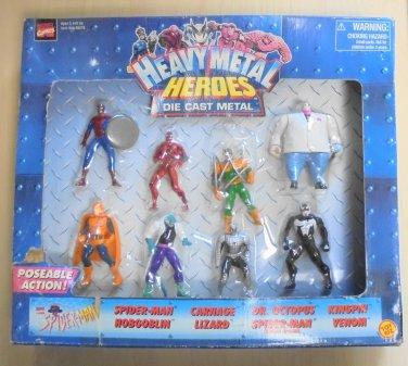 TOY BIZ MARVEL HEAVY METAL HEROES Die Cast Metal figure Spider-Man Venom