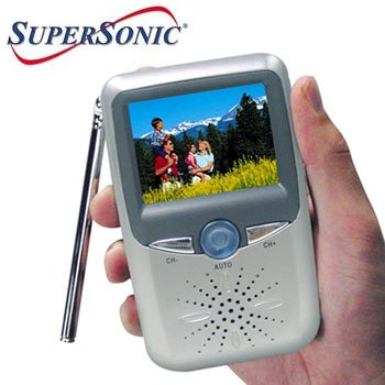 """SUPERSONIC® 2.5"""" HANDHELD LCD COLOR TV/MONITOR"""