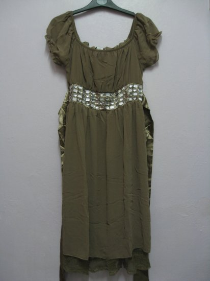Dress (diamonds) Beige
