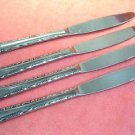 REED & BARTON RDS 47 RDS47 4 PLACE KNIVES REBACRAFT STAINLESS FLATWARE SILVERWARE