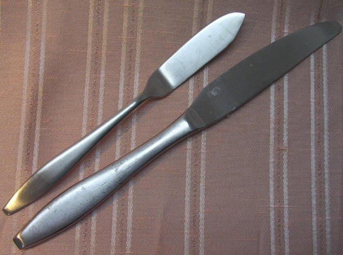 ONEIDA OHS 303 OHS303 SPREADER & KNIFE STAINLESS 18/10 FLATWARE SILVERWARE