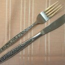 PAGEANT HARVEST SALAD FORK & PLACE KNIFE STAINLESS FLATWARE SILVERWARE
