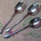 ESTIA CASCADE SERVING & 2 PLACE SPOONS STAINLESS FLATWARE SILVERWARE