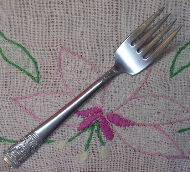 NS NATIONAL NST 47 NST47 SALAD FORK STAINLESS FLATWARE SILVERWARE