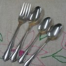 ONEIDA CHATEAU 4pc DELUXE STAINLESS FLATWARE SILVERWARE