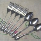 CONTINENTAL CSS 27 CSS27 3 TEASPOONS &4 SALAD FORKS STAINLESS FLATWARE SILVERWARE