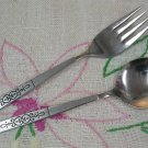 ONEIDA LTD WM A ROGERS ROCHESTER SUGAR & SALAD FORK STAINLESS FLATWARE SILVERWARE