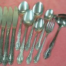NATIONAL VICTORIA NST 8 NST8 11pc STAINLESS FLATWARE SILVERWARE