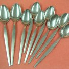STANLEY ROBERTS CROWN SRB 20 SRB20 9 SPOONS STAINLESS FLATWARE SILVERWARE
