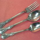 ONEIDA MANSION HALL DELUXE TEA & PLACE SPOON & FORK STAINLESS FLATWARE SILVERWARE