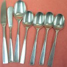 STANLEY ROBERTS CROWN SRB 12 SRB12 7pc STAINLESS FLATWARE SILVERWARE