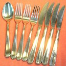 LUZERNE 18/10 SPOON 4 KNIVES &3 FORKS STAINLESS FLATWARE SILVERWARE