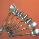 CARLTON CAMEO 7pc Serving Fork 2 Jelly 4 Fruit STAINLESS FLATWARE SILVERWARE