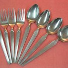 SRI STANLEY ROBERTS CORTINA 4 FORKS 3 PLACE & SERVING SPOONS STAINLESS FLATWARE SILVERWARE